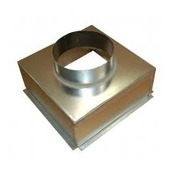Plenum box, 200mm Dia Spigot- Metal