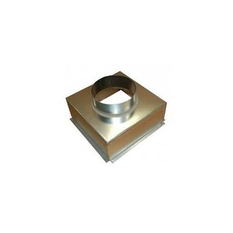 Plenum box, 200mm Dia Spigot- Metal