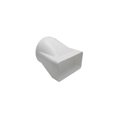 Plastic Square to Round Straight Adaptor