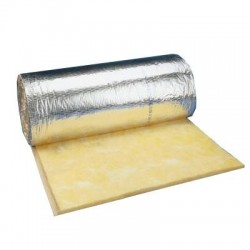 Duct Insulation Blanket (Fibre Glass w/ Aluminium Face Skin)- 25mm Thick, 1.2x18mm